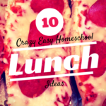 10 Crazy Easy Homeschool Lunch Ideas