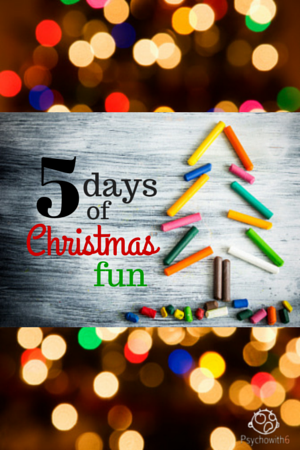 5 Days of Christmas Fun. Easy fun Christmas games, writing activities, crafts, books, and movies for your kids with supply list.