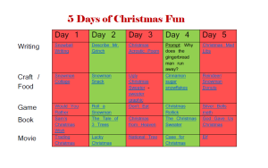 5 Days of Christmas fun plan and supply list. Enter the cash giveaway, too!