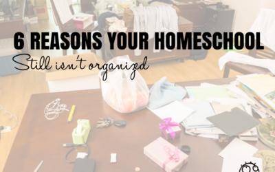 Six Reasons Your Homeschool Still Isn't Organized