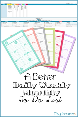 A Better Daily Weekly Monthly To Do List. Free printable from JanaLaurene.com or Mac app