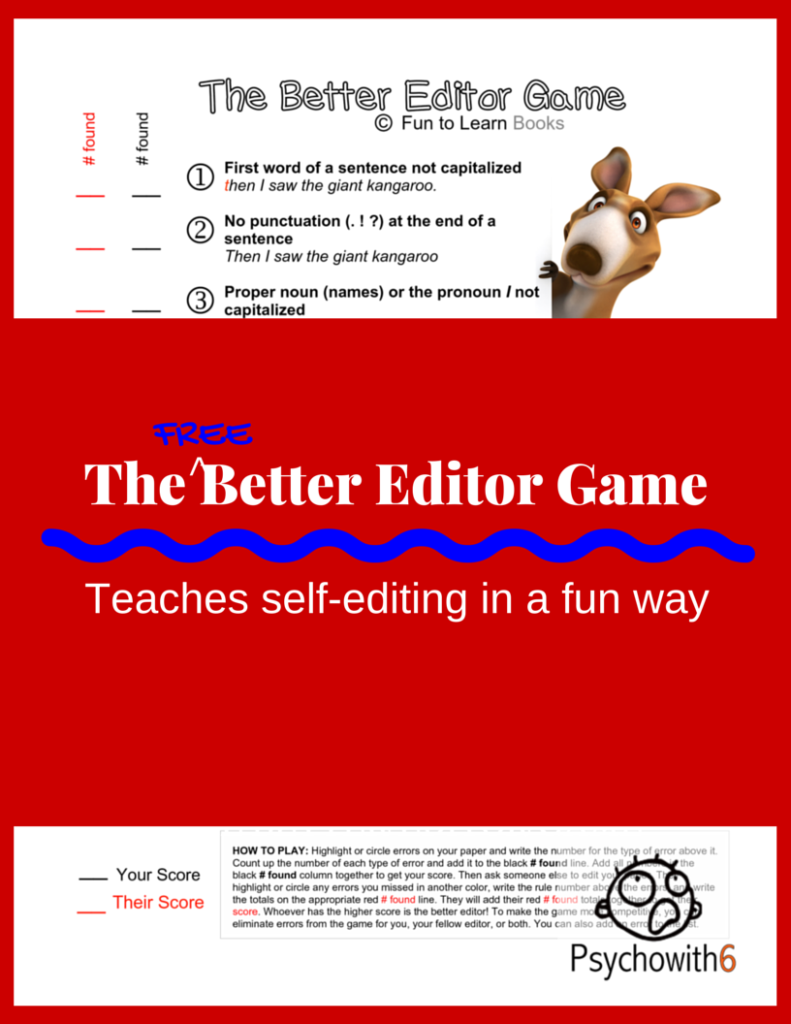 The Better Editor Game -- a free game for teaching self-editing!