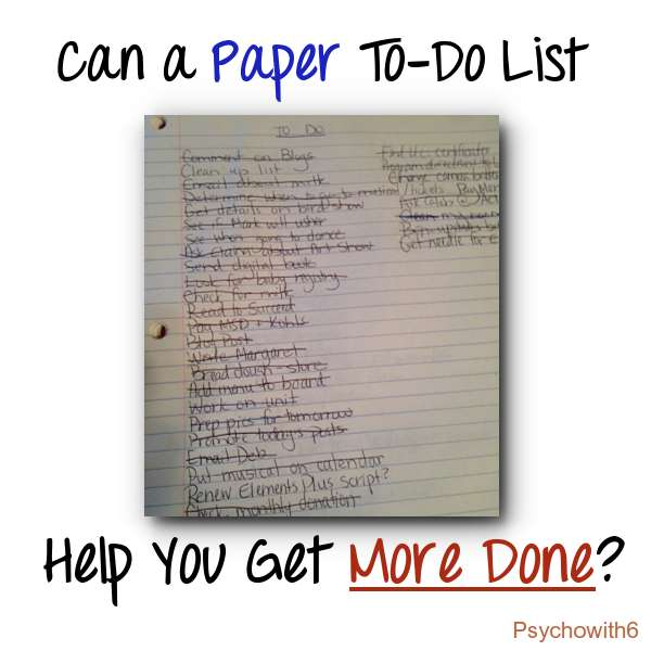 Can a Paper To Do List
