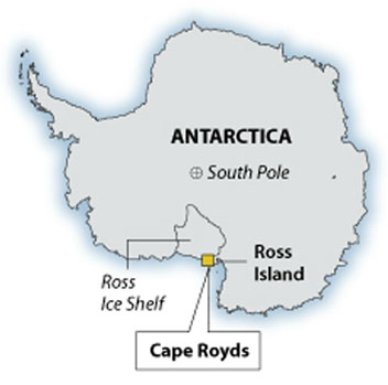 Cape Royds map