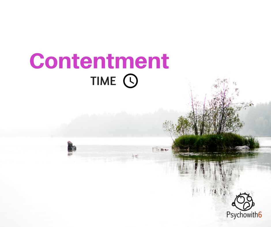Contentment with time