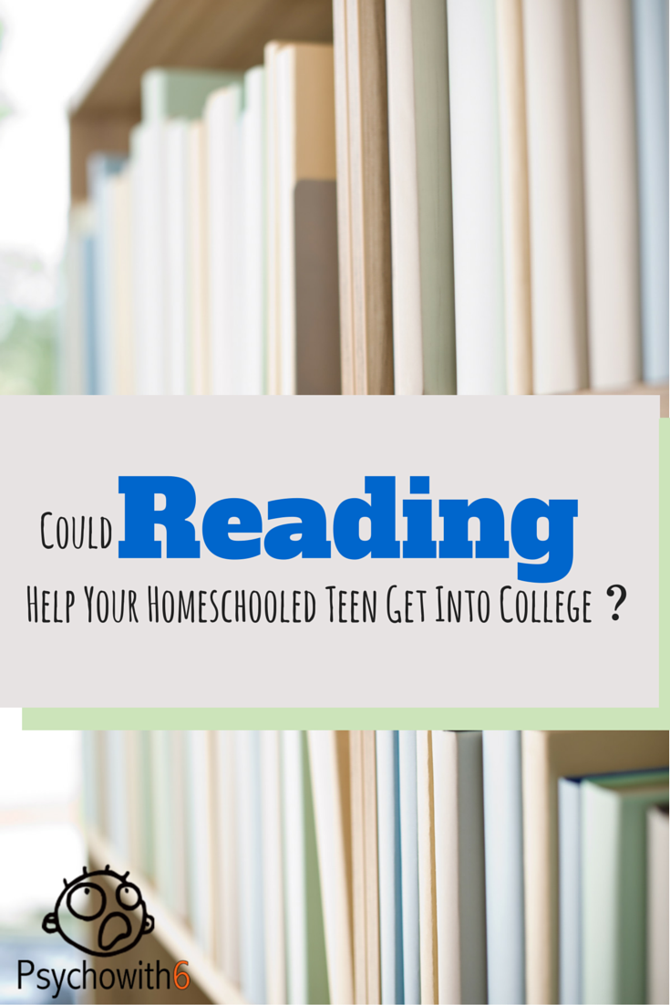 Could Reading Help Your Homeschooled Teen Get Into College?