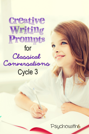 Creative writing prompts for classical conversations cycle 3 that help kids memorize!