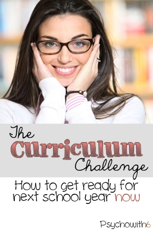 How to choose curriculum for next school year now.
