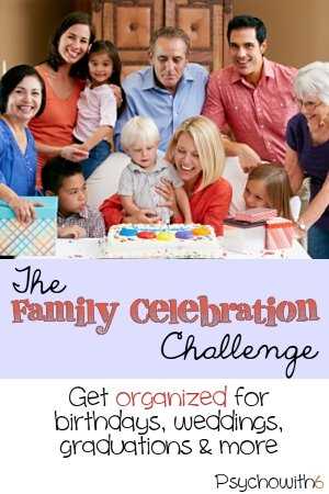 The Family Celebrations Challenge: Week 18