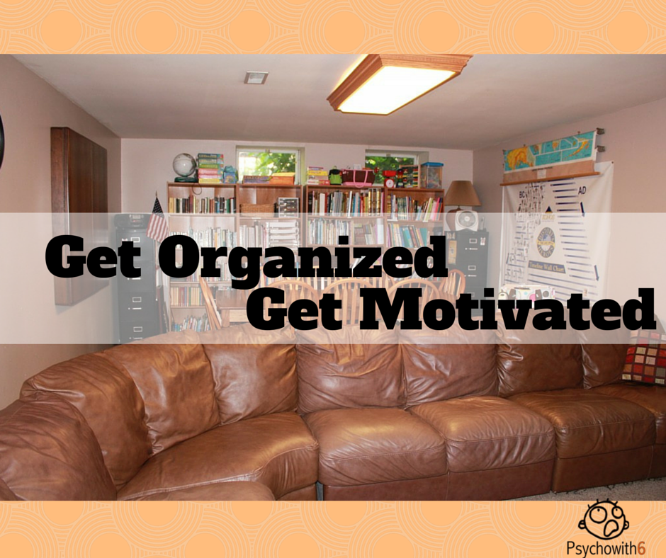 Get Organized, Get Motivated to Homeschool. Start with your space!