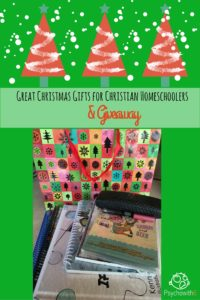 Great Christmas Gifts for Christian Homeschoolers & Giveaway