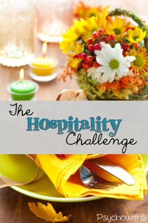 The hospitality challenge: easy ideas for practicing hospitality and teaching it to your children.
