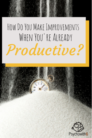 How do you make improvements when you're already productive? Get more done this year with advice from Francis Wade.