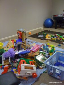 How to declutter toys in a large family