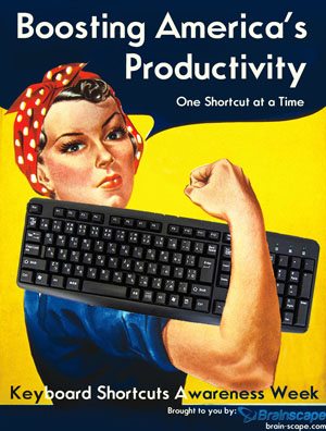 keyboard shortcuts, brainscape, productivity