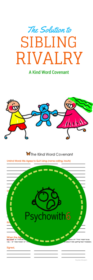 The Solution to Sibling Rivalry: The Kind Word Covenant