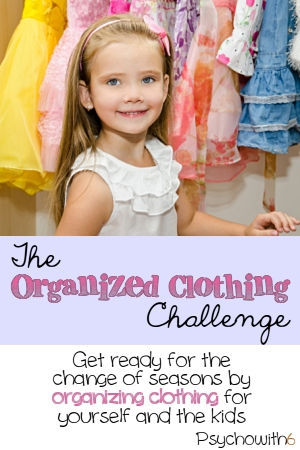 The Organized Clothing Challenge. Get ready for a new season by getting kids' and adult clothing organized.
