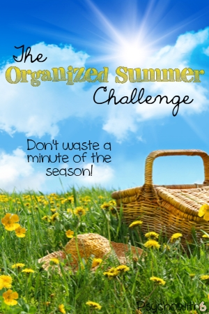 Squeeze every precious moment from this summer by getting organized. Part of the 52-Week Organized Homeschool Challenge