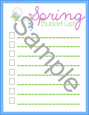 Spring Bucket List Sample
