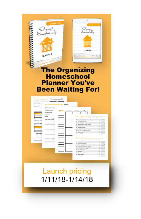 The Organized Homeschool Life Planner Launch Pricing