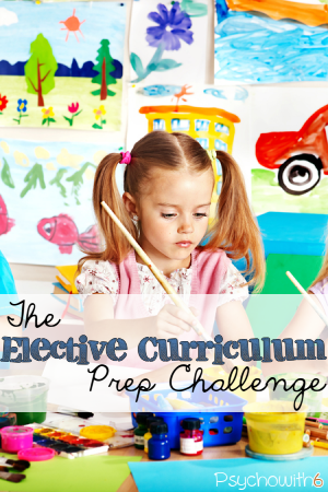 The elective curriculum challenge. Get your art, music, home ec, and other subjects organized for school this week!