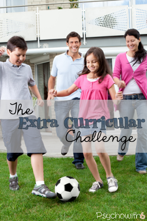 The Extra-Curricular Challenge. Get organized for your kids'  sports, outside classes, and activities.