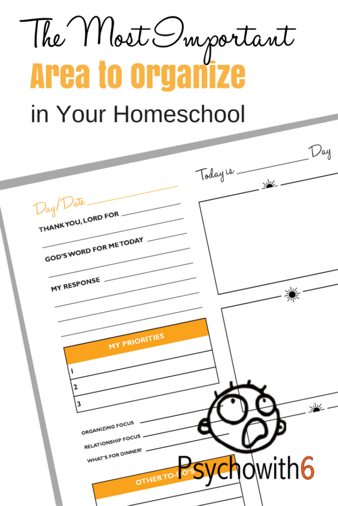 The Most Important Area to Organize in Your Homeschool