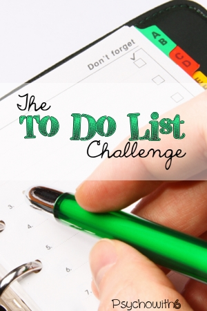 get organized, to do list, weekly challenge