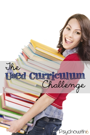 The Used Curriculum Challenge. Get your used books ready to sell or give away this week and buy the used curriculum you need.
