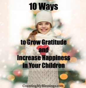 gratitude, children, happiness, how to