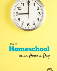 How to Homeschool in an Hour a Day