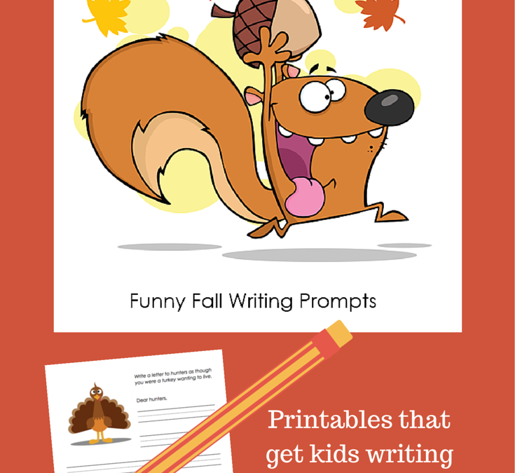 Free Funny Fall Writing Prompts to Get Kids Writing