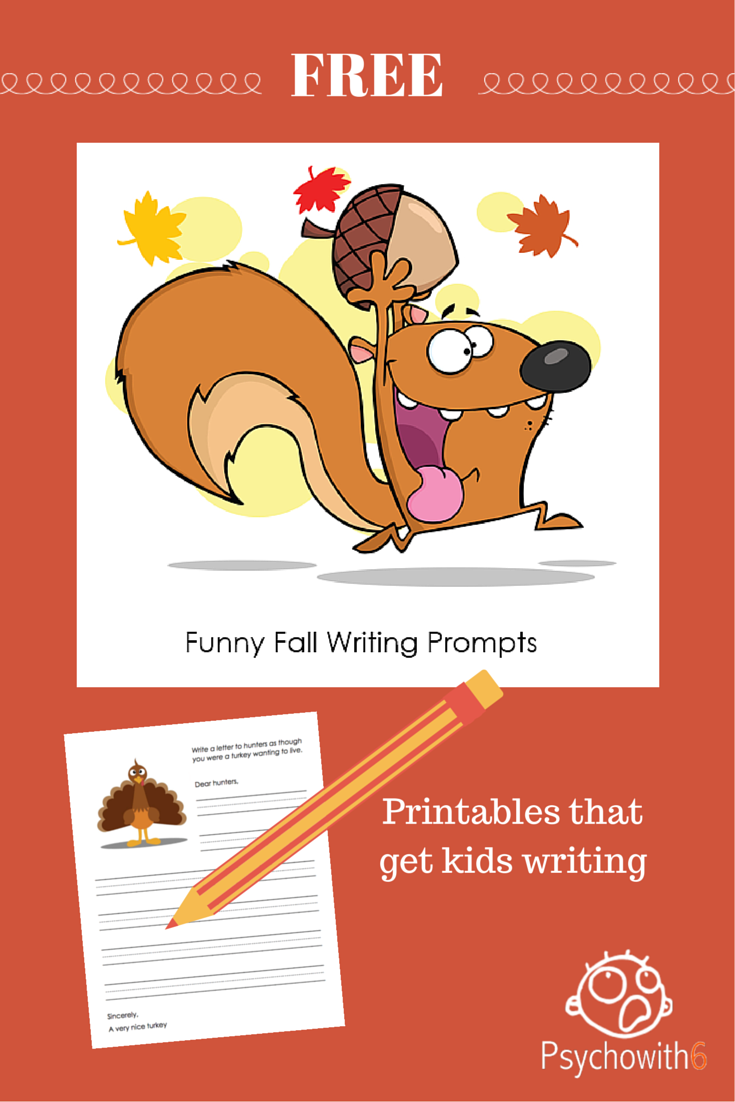 Funny Fall Writing Prompts Printables That Get Kids Writing