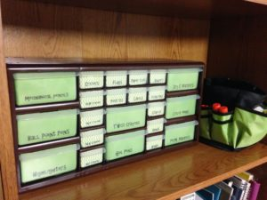 DIY homeschool supply organizer