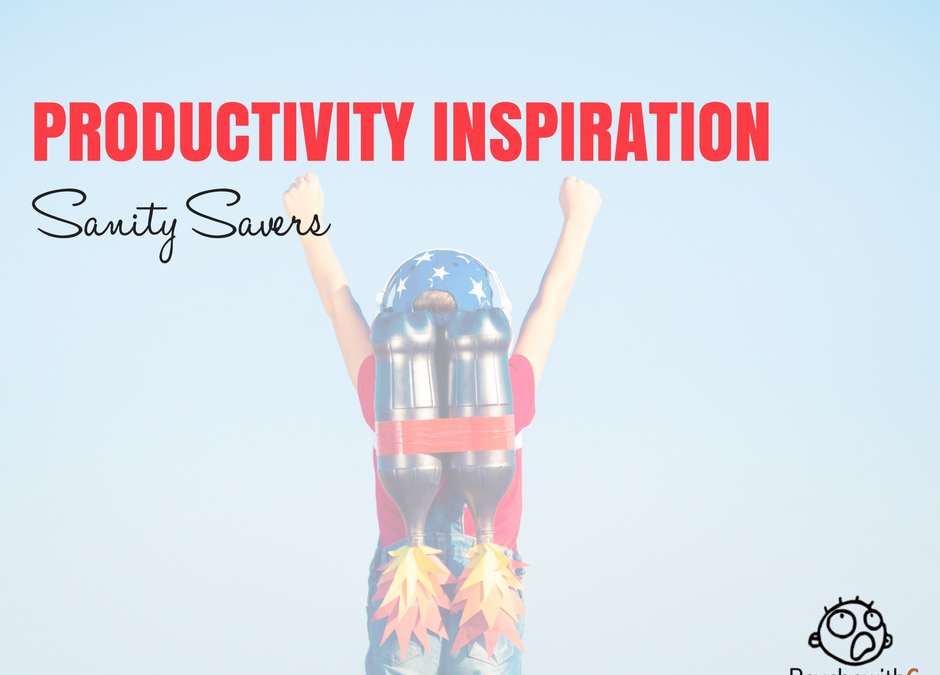 Productivity Inspiration Sanity Savers